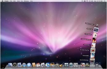 how to change what is in the top dock mac