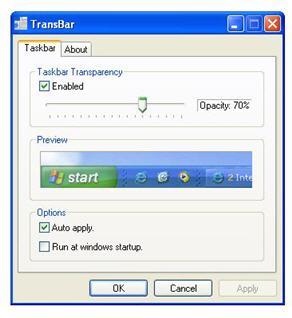 Transbar screenshot