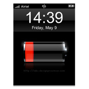iBattery offers an iPhone-style battery guage for your Symbian phone