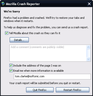 Firefox 3 crashing. Again.