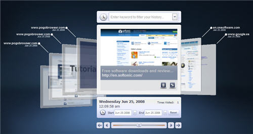 First look at pogo the 3d web browser by at t 3d web browser