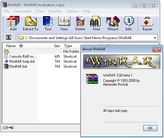First look at WinRAR 3 80 Beta