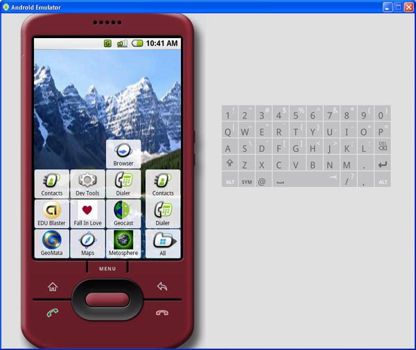 Running apps in the Android emulator