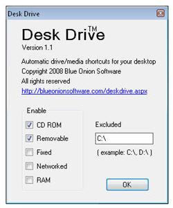 Create a desktop shortcut for USB devices