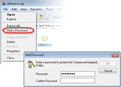 password protect folders in Windows XP