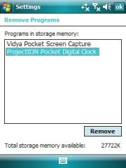 Make sure you remove Windows Mobile apps correctly