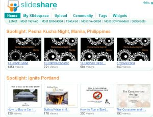 SlideShare offers a great way to share presentations