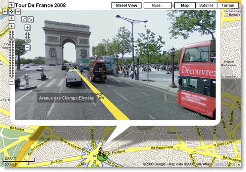 Follow the Tour de France in Google Maps