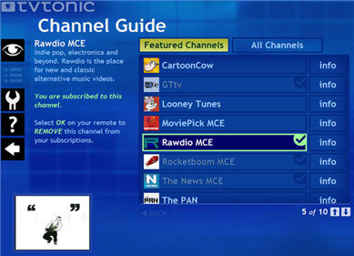 TVTonic Channel Guide