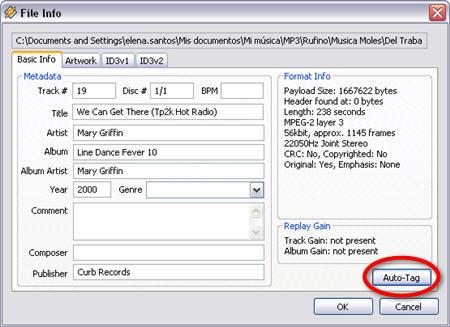 Auto-Tag MP3 files in Winamp