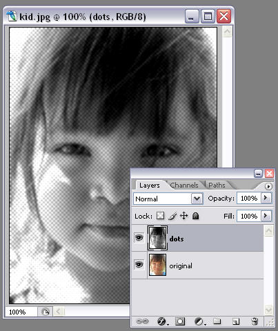 Add a dot effect to your photos