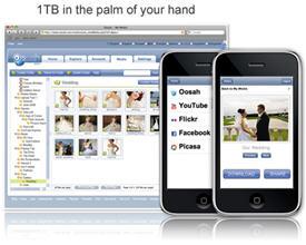 Oosah, 1 TB of free online storage space