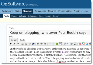 Blogging rocks