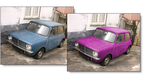 Change the color of your car in Photoshop