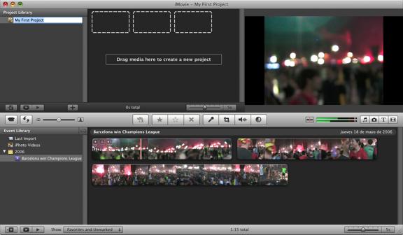 iMovie Timeline