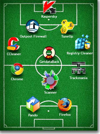 The footballware starting line-up
