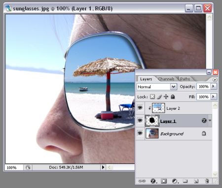 how to make sunglasses with reflection