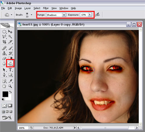 Turn someone into a vampire in Photoshop
