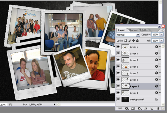 Create a Polaroid collage in Photoshop