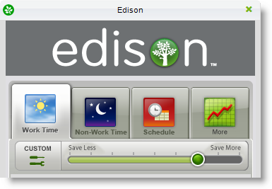 Save energy with Edison