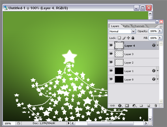 create a Christmas card in Photoshop