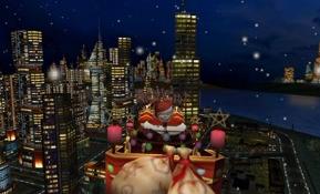 Santa and the City 3D Christmas Screen Saver