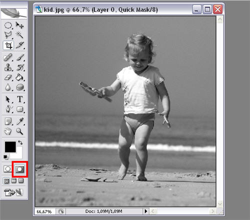 Color a black and white image in photoshop
