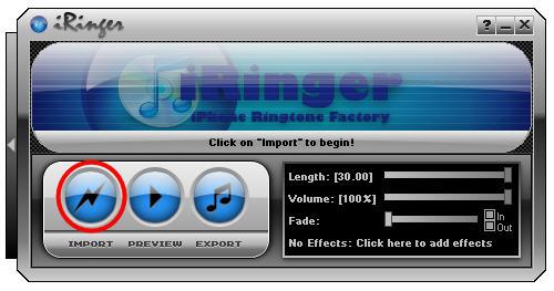 Create iPhone ringtones with iRinger