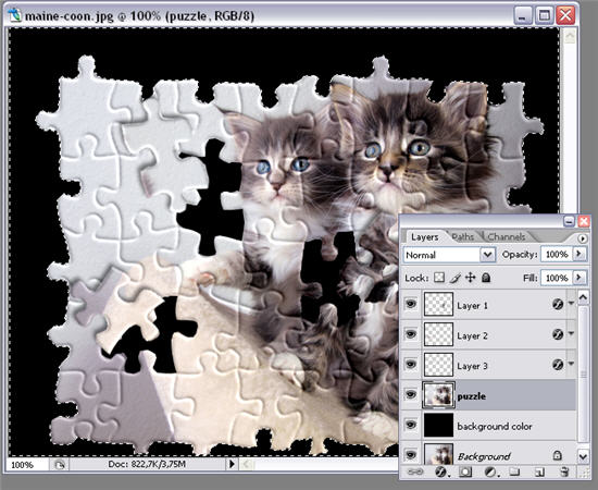 Apply a puzzle effect to your photos