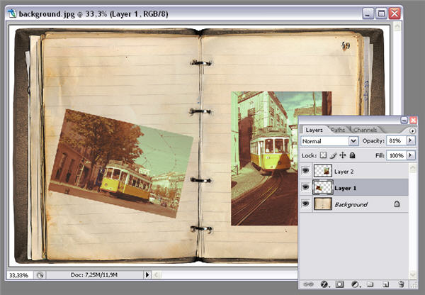 How To Create A Vintage Photo Album In Photoshop