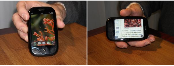 First look at the Palm Pre WebOS