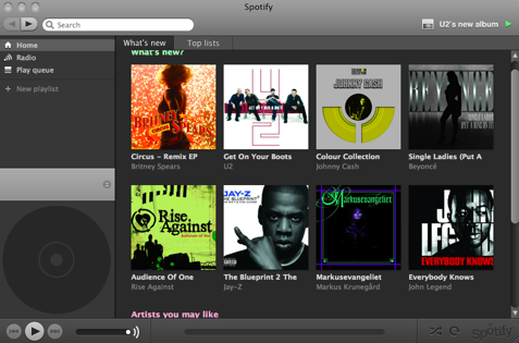 Spotify screenshot