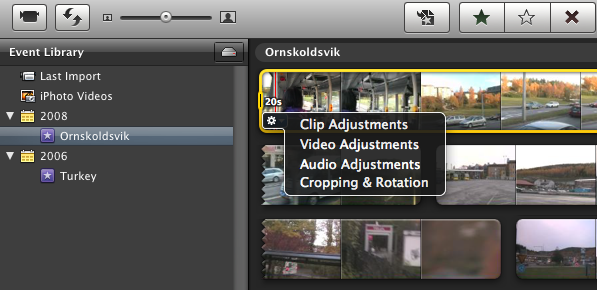 iMovie 09 screenshot