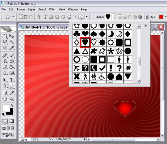 Create a Valentine's card in Photoshop