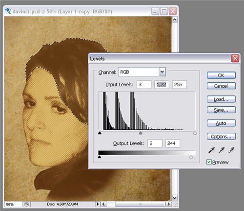 How to: create a Da Vinci drawing in Photoshop