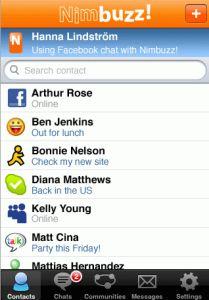 Nimbuzz contacts