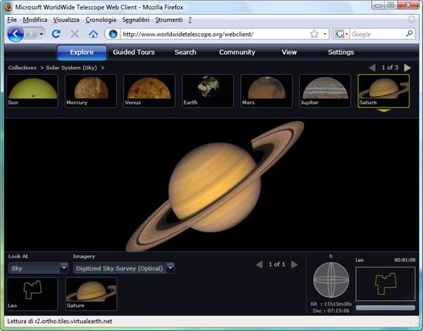 Worldwide Telescope online