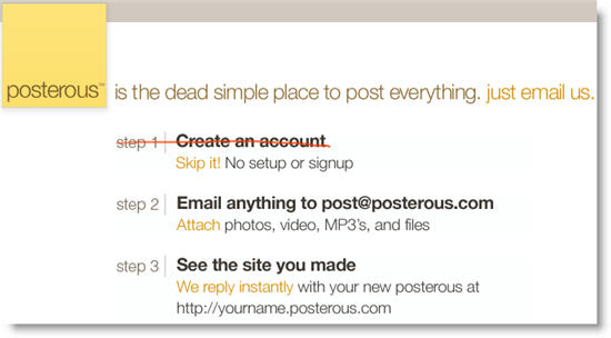 Posterous: Microblogging service for lazy bloggers