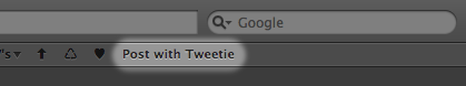 Tweetie bookmarklet