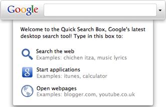 Google Quick Search Box 1