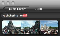 iMovie Uploaded YouTube screenshot