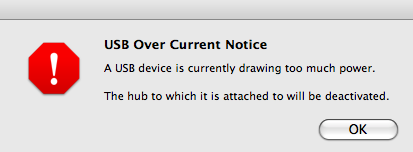 USB Over Current Notice