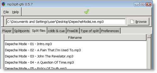 How to: split MP3 files