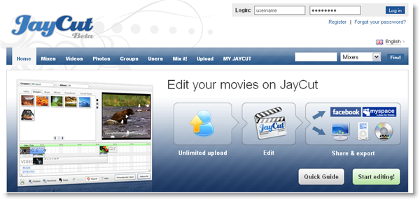 Edit and mix videos online with JayCut