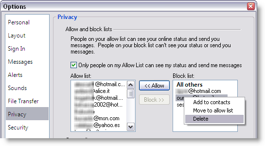Tips and tricks for Windows Live Messenger
