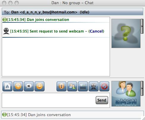 aMSN chat dialog