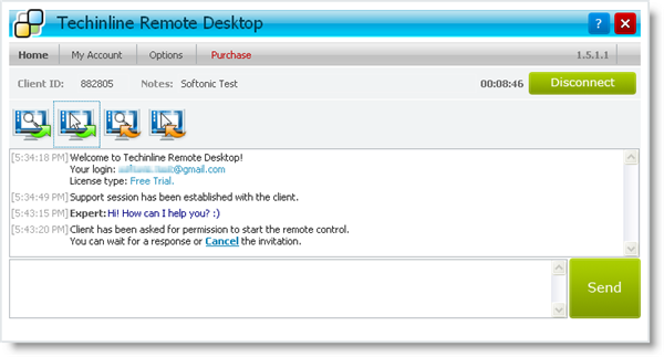 Techinline Remote Desktop - Remote Support