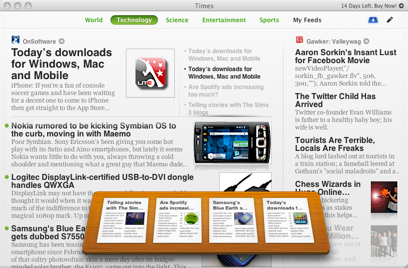 Times Shelf screenshot