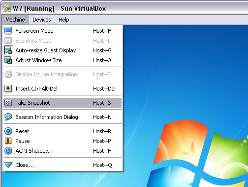 How to: Create and manage snapshots in VirtualBox