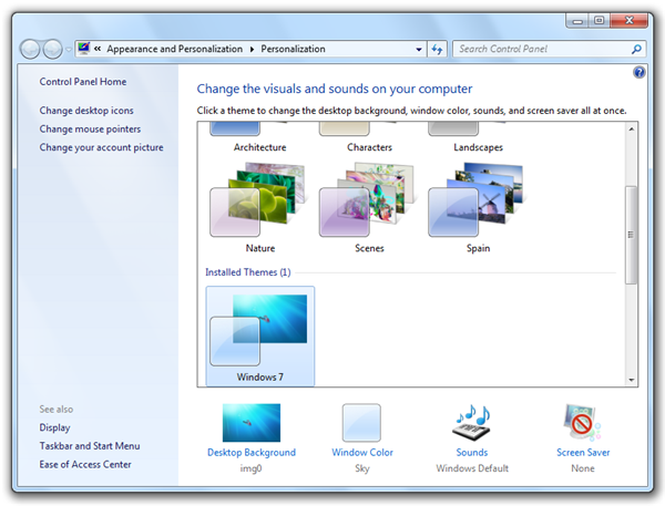 How to: Download and install Windows 7 themes